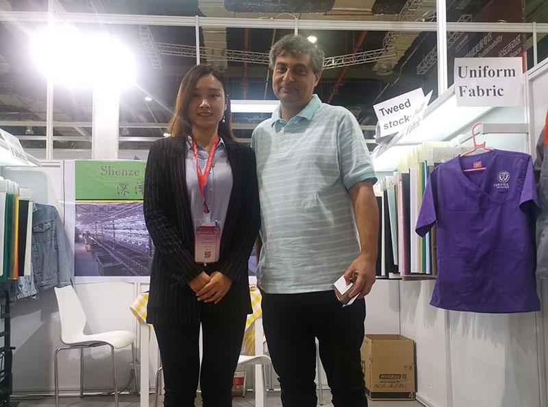 Xingye Textile Attend the Intertextile Fair in Shanghai
