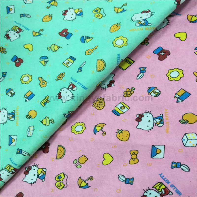 Custom Print Flannel Fabric
